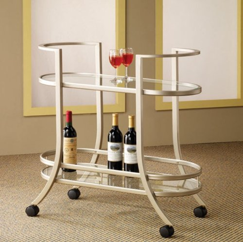 Image of Contemporary Kitchen Cart by Coaster (VF_AZ00-77481x31995)