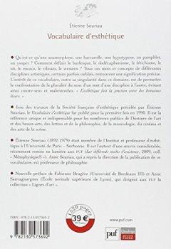 Livres Couvertures de Vocabulaire d'esthétique