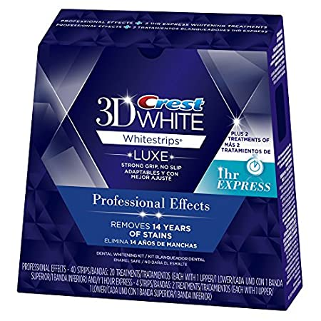 Reveal a brilliantly whiter smile. Crest 3D White Luxe Whitestrips Professional Effects are like an eraser for your teeth. Remove the stains from the last 14 years in just 30 minutes a day. Their no slip grip means the strips stay put until you take ...