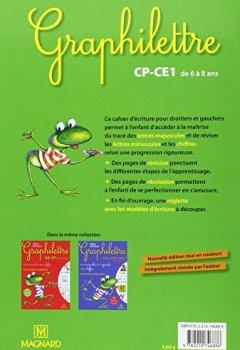 Livres Couvertures de Cahier d'écriture Graphilettre CP-CE1 de 6 à 8 ans : Les majuscules pour droitiers et gauchers