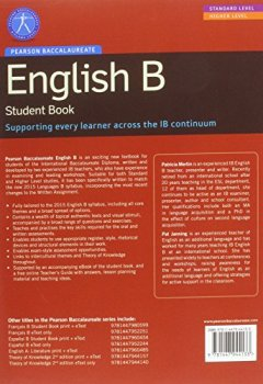 Portada del libro dePearson Baccalaureate English B print and ebook bundle for the IB Diploma (Pearson International Baccalaureate Diploma: International Editions)