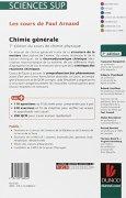 Livres Couvertures de Les cours de Paul Arnaud - Chimie générale - 7e édition du cours de chimie physique: Cours avec 330 questions et exercices corrigés et 200 QCM