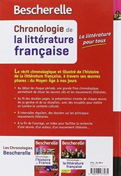 Livres Couvertures de Bescherelle Chronologie de la littérature française: du Moyen Âge à nos jours