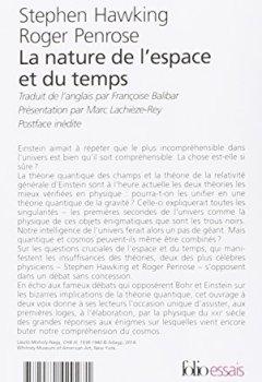 Livres Couvertures de La nature de l'espace et du temps