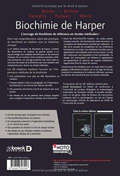 Livres Couvertures de Biochimie de Harper