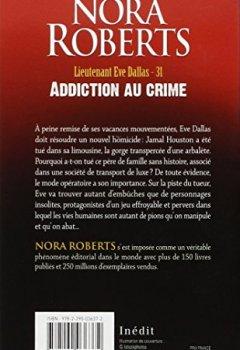 Livres Couvertures de Lieutenant Eve Dallas, Tome 31 : Addiction au crime