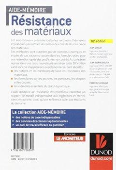 Livres Couvertures de Aide-mémoire - Résistance des matériaux - 10e éd.