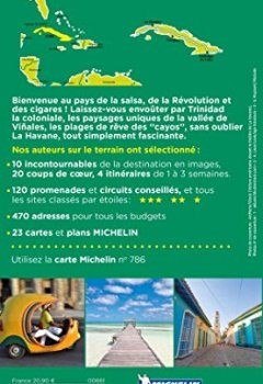 Livres Couvertures de Guide Vert Cuba Michelin