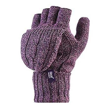 Here's the very latest addition to the Heat Holders range - beautifully soft, fabulously warm ladies Heat Holders 2.3 Tog Heatweaver Yarn Fingerless Gloves with Converter Mitt. These mitten-style gloves offer you the best of both worlds, with open-en...