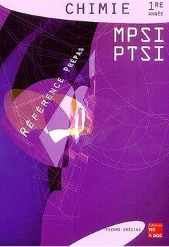 Livres Couvertures de Chimie 1re année MPSI PTSI
