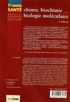 Livres Couvertures de Chimie, biochimie & biologie moléculaire : UE1 - Atomes, biomolécules, génome, bioénergétique, métabolisme