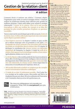 Livres Couvertures de Gestion de la relation client 4e édition : Total relationship management, Big data et Marketing mobile
