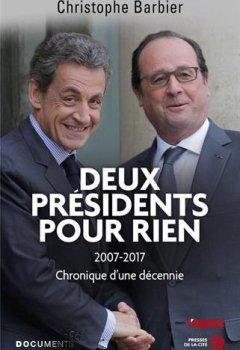Livres Couvertures de Deux présidents pour rien