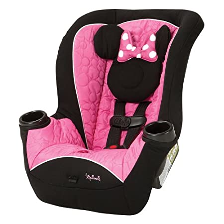 View larger      Disney Baby Minnie Mouse Apt 40RF Convertible Car SeatRear-facing and forward-facing The Disney Baby Minnie Mouse Apt 40RF Convertible Car Seat allows babies to remain in a safer rear-facing position from a tiny 4 pounds up to 4...