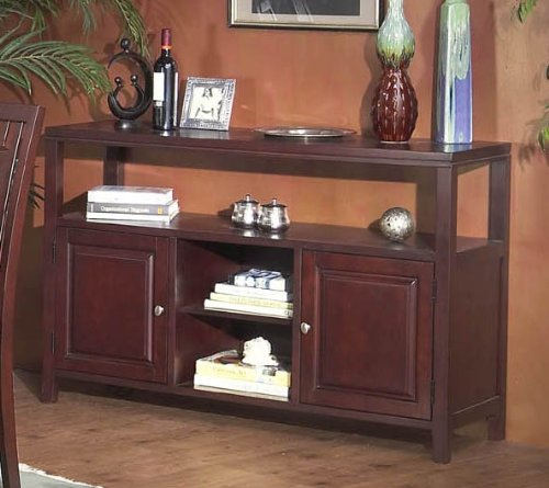 Image of Server Sideboard with Contemporary Style Design in Cherry Finish (VF_AP-113-03)