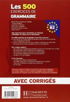Livres Couvertures de Les 500 exercices de Grammaire Niveau B2 : Avec corrigés