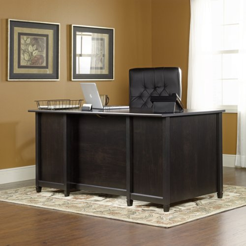 Picture of Comfortable Executive Computer Desk - Estate Black Finish (B003TLK4EE) (Computer Desks)