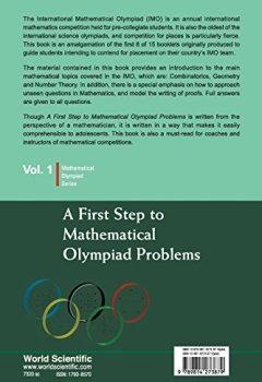 Livres Couvertures de A First Step to Mathematical Olympiad Problems