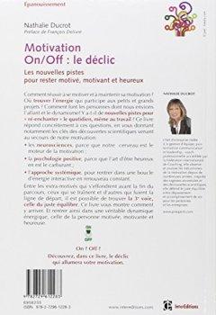Livres Couvertures de Motivation on/off : le déclic - Les nouvelles pistes pour rester motivé, motivant et heureux