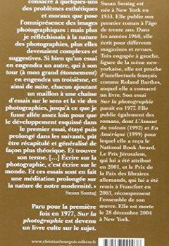 Livres Couvertures de Sur la photographie