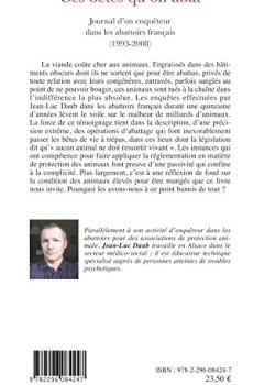 Livres Couvertures de Ces bêtes qu'on abat : Journal d'un enquêteur dans les abattoirs français (1993-2008)