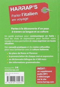 Livres Couvertures de Harrap's parler l'Italien en voyage