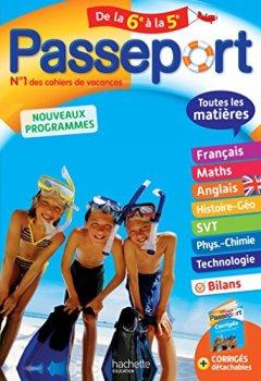 Livres Couvertures de Passeport Toutes les matières - De la 6e à la 5e - Cahier de vacances