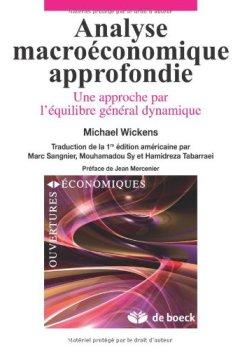 Livres Couvertures de Analyse macroéconomique approfondie une approche par l'équilibre général dynamique