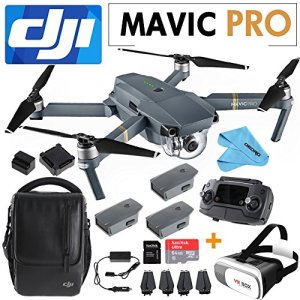 DJI-Mavic-Pro-Collapsible-Quadcopter-Includes-SanDisk-64GB-MicroSD-Card3D-VR-BOX2-Intelligent-Flight-BatteriesShoudler-BagCleaning-Cloth