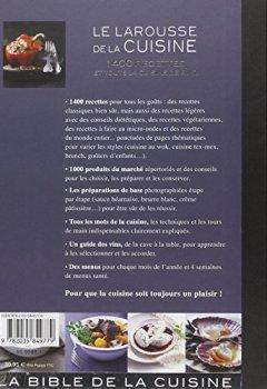 Livres Couvertures de Le Larousse de la cuisine