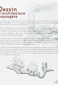 Livres Couvertures de Dessin d'architecture paysagère