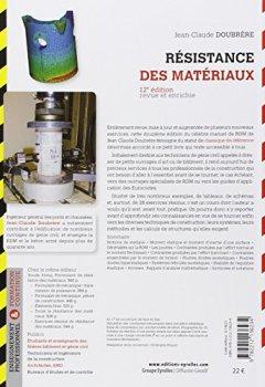 Livres Couvertures de Résistance des matériaux: Cours - Exercices corrigés.