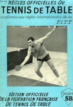 Livres Couvertures de Regles officielles du tennis de table