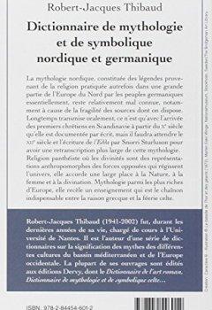 Livres Couvertures de Dictionnaire de mythologie et de symbolique nordique et germanique