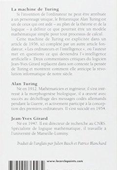 Livres Couvertures de La machine de Turing