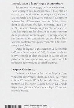 Livres Couvertures de Introduction à la politique économique