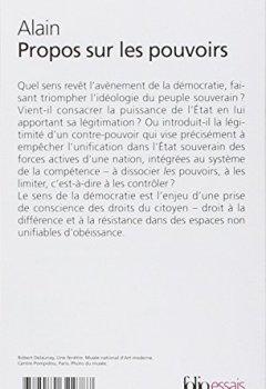 Livres Couvertures de Propos sur les pouvoirs: Éléments d'éthique politique