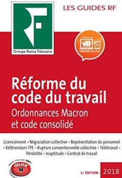 Livres Couvertures de Réforme du code du travail 2018: Ordonnances Macron et code consolidé