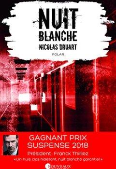 Livres Couvertures de Nuit blanche. Prix du suspense psychologique 2ème édition 2018