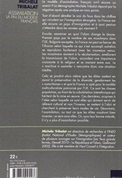 Livres Couvertures de Assimilation : la fin du modèle français