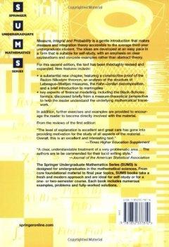 Livres Couvertures de Measure, Integral and Probability