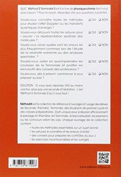 Livres Couvertures de Méthod'S Physique-Chimie Terminale S Conforme au Programme 2012. 153 Méthodes 88 Exercices Corrigés