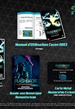Livres Couvertures de Flashback 25th Anniversary Collector's Edition pour Nintendo Switch