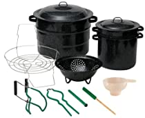 Granite Ware 0719-1 Enamel-on-Steel Canning Kit with Blancher, 12-Piece
