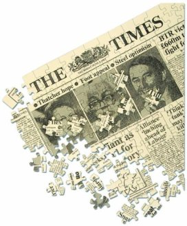 Times of London Newspaper Historical Front Page Jigsaw Puzzle