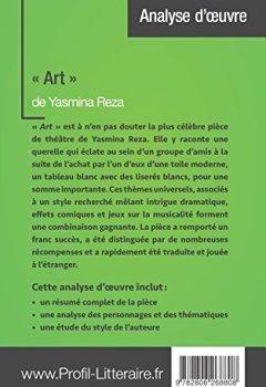 Livres Couvertures de « Art » de Yasmina Reza (Analyse approfondie): Approfondissez votre lecture des romans classiques et modernes avec Profil-Litteraire.fr