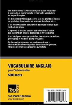 Livres Couvertures de Vocabulaire français-anglais (BR) pour l'autoformation. 5000 mots