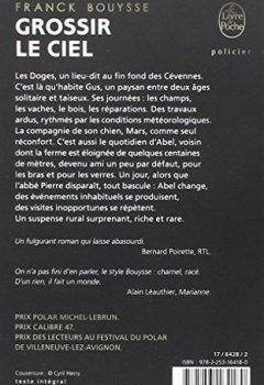 Livres Couvertures de Grossir le ciel: Sélection Prix SNCF du Polar 2017