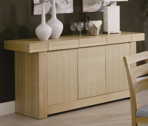 Image of Server Sideboard with Spacious Top in Light Ash Finish (VF_AZ00-84693x36973)