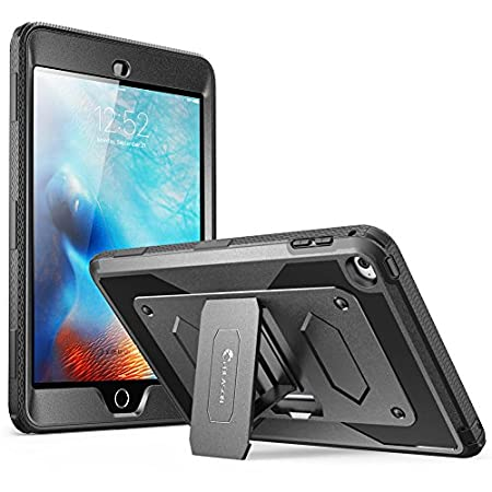 i-Blason Armorbox - [Yellow Jacket] Series Dual Layer Armored Rugged Protective Case with Kickstand and Built-in Screen Protector for Apple iPad Mini 4 2015 Release Warning: This Case is Custom Fit for Apple iPad Mini 2015 Release/ Will Not fit ...